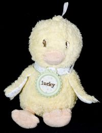 Amy Coe LUCKY DUCK Yellow Stuffed Plush Rattle Lovey Lovie